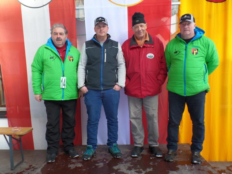 13. Platz: EC Oberndorf I: Georg Brunner, Heinz Herma, Clemens Wibmer, Sepp Thaler