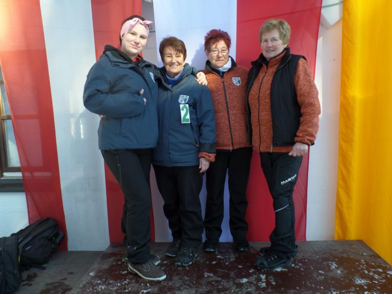 3. Platz: ESV Erpfendorf I: Angela Riegler, Lisi Url, Josefine Maier, Carina Maier