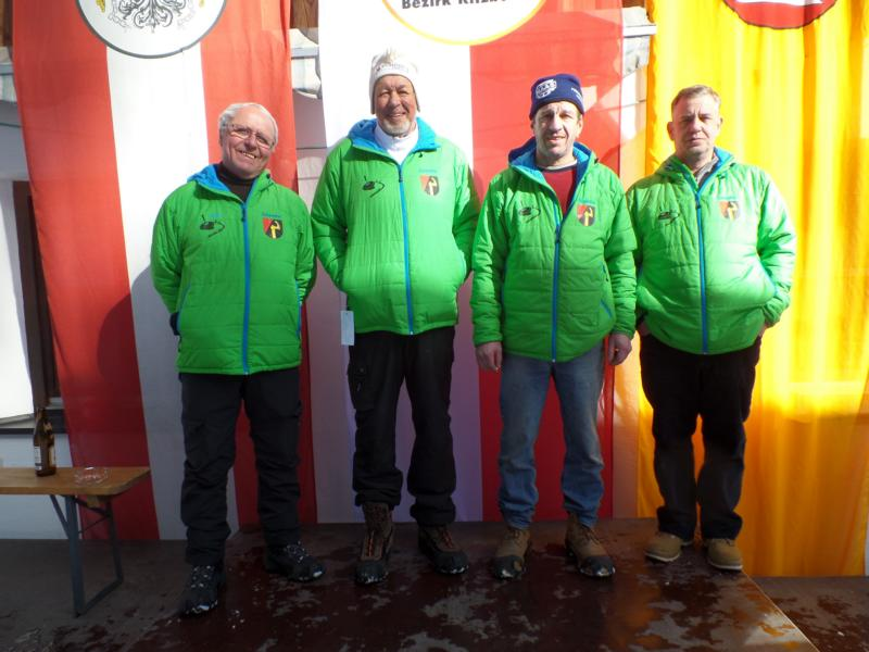 9. Platz: EC Oberndorf II: Peter Hechenberger, Alex Singer, Rudi Volstuben, Manfred Hörl