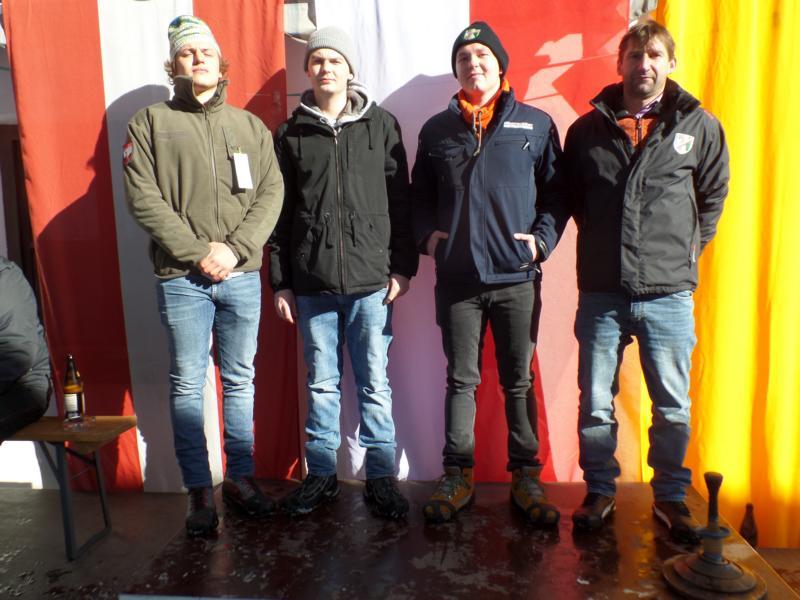 16. Platz: ESV Erpfendorf III: Fabian Bromberger, Johann Resinger, Markus Hechenbichler, Adrian Lechner