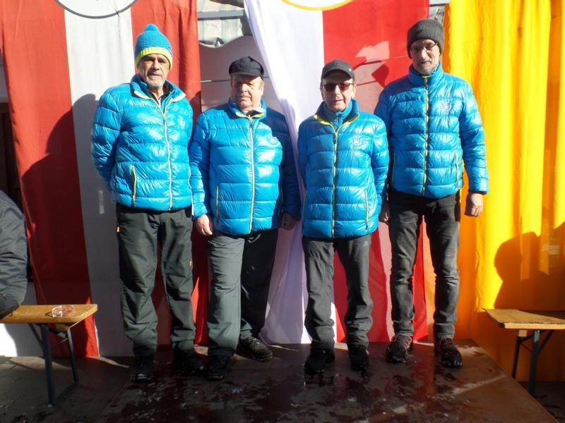 12. Platz: EV Fieberbrunn II: Heinz Huber, Stefan Trixl, Toni Schlömmer, Bernd Gasteiger