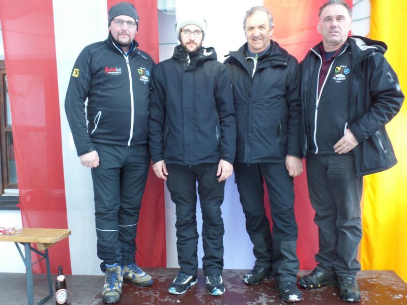 3. Platz: ESC Jochberg II: Martin Luxner, Johann Pletzer, Christoph Pletzer, Fritz Noichl