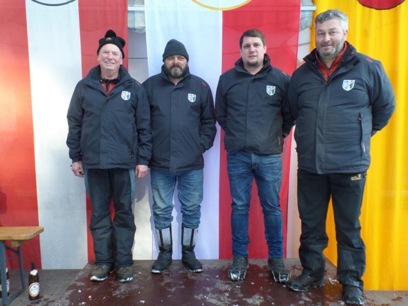 15. Platz: ESV Erpfendorf II: Georg Lechner, Otto Mols, Stefan Ehleben, Wolfgang Loidl