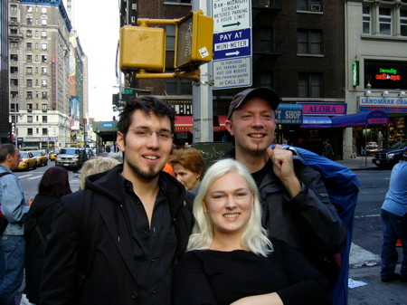 w/Ingrid Diem & Christoph Sztrakati on tour in NYC