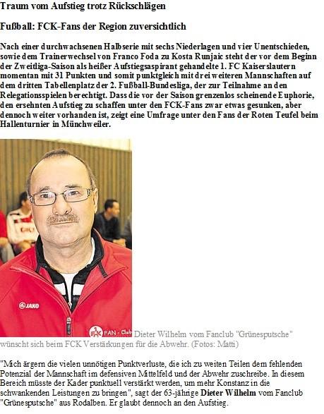 Pirmasenser Zeitung 07.01.2014