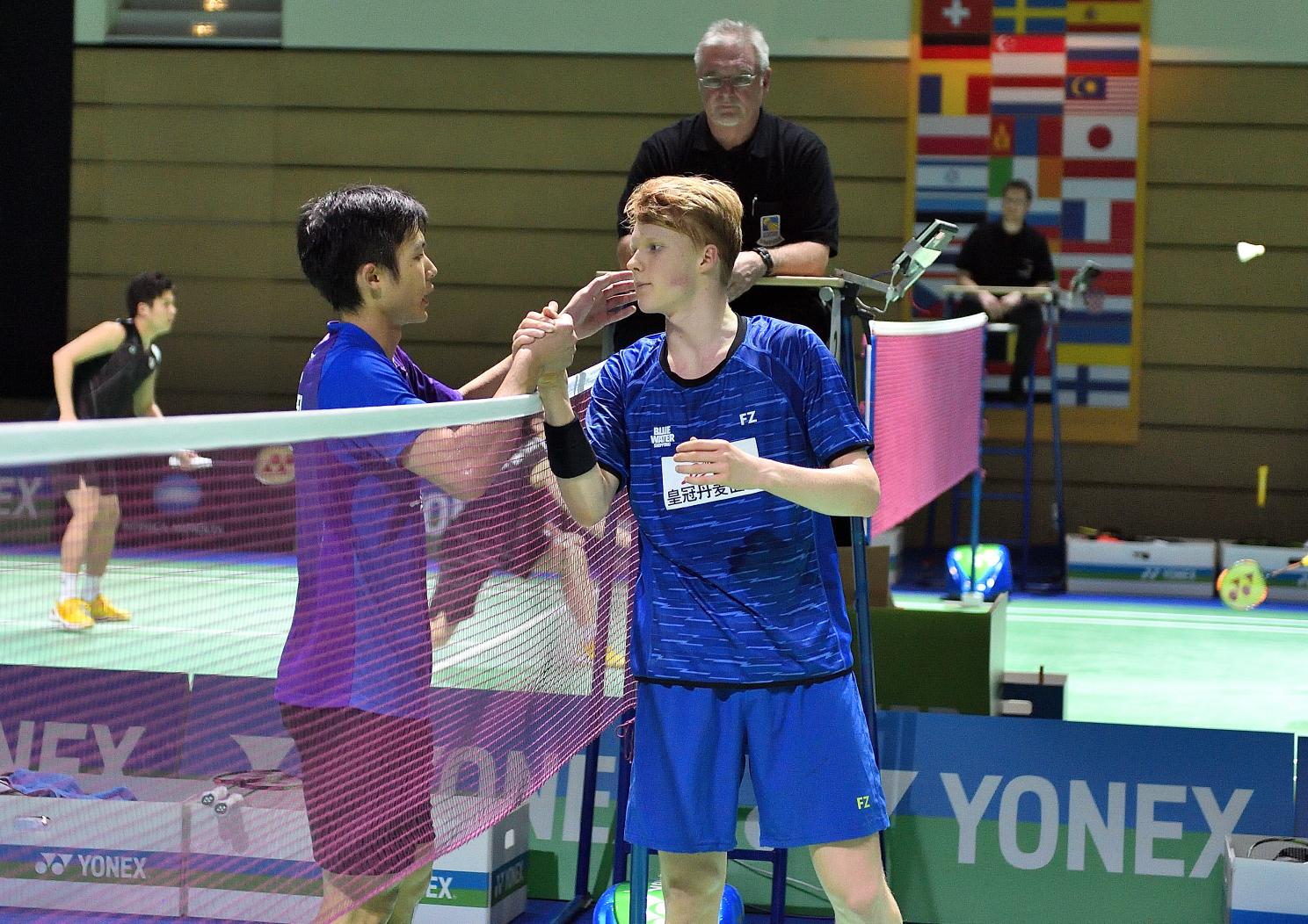 Trotz der knappen Niederlage von Anders Antonsen gegen Vorjahresfinalist Chou Tien Chen...