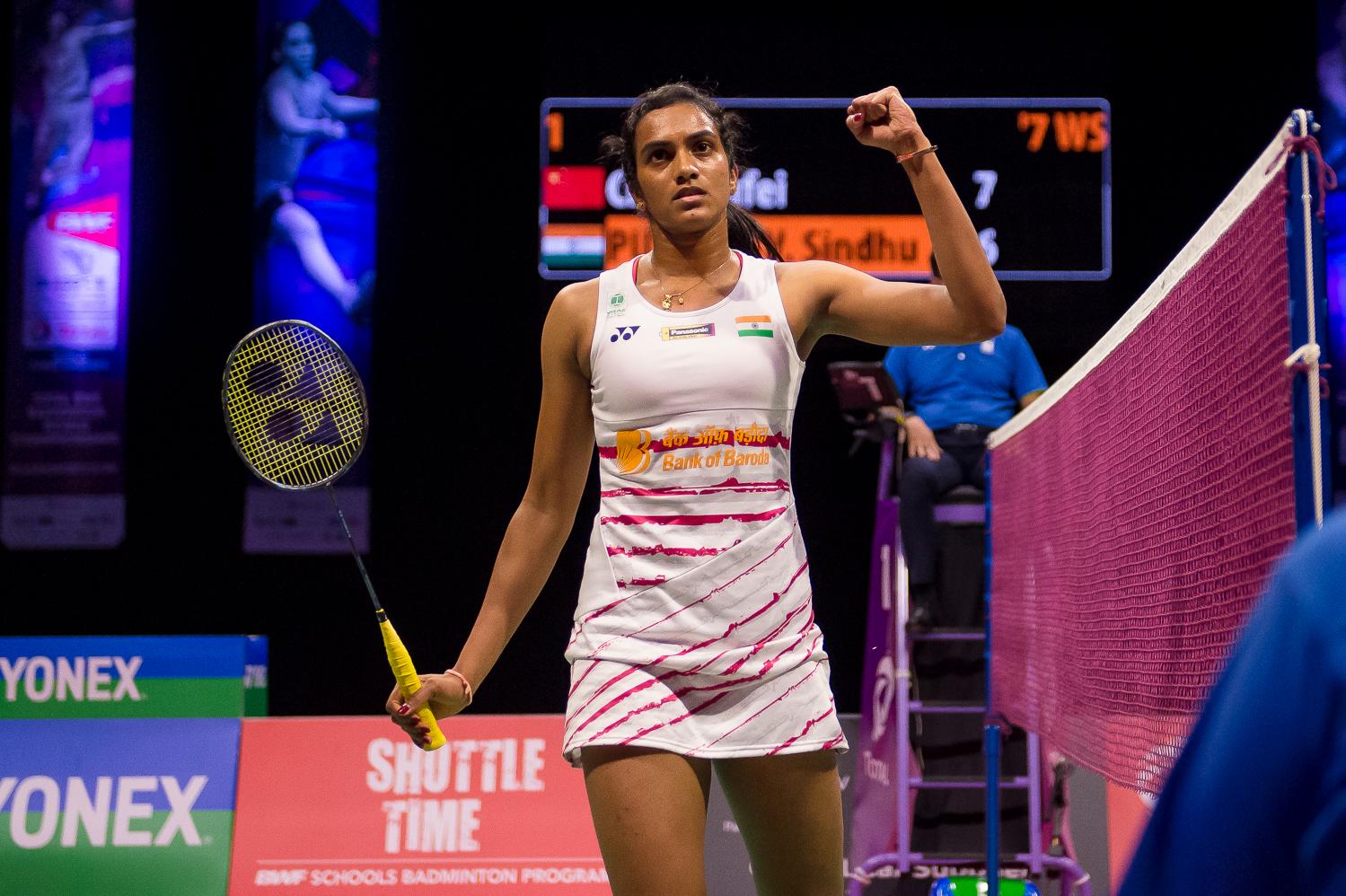 Die Silbermedaillegewinnerin von Rio Pursala Sindhu stürmte ins Finale und möchte sich heute zur Weltmeisterin krönen