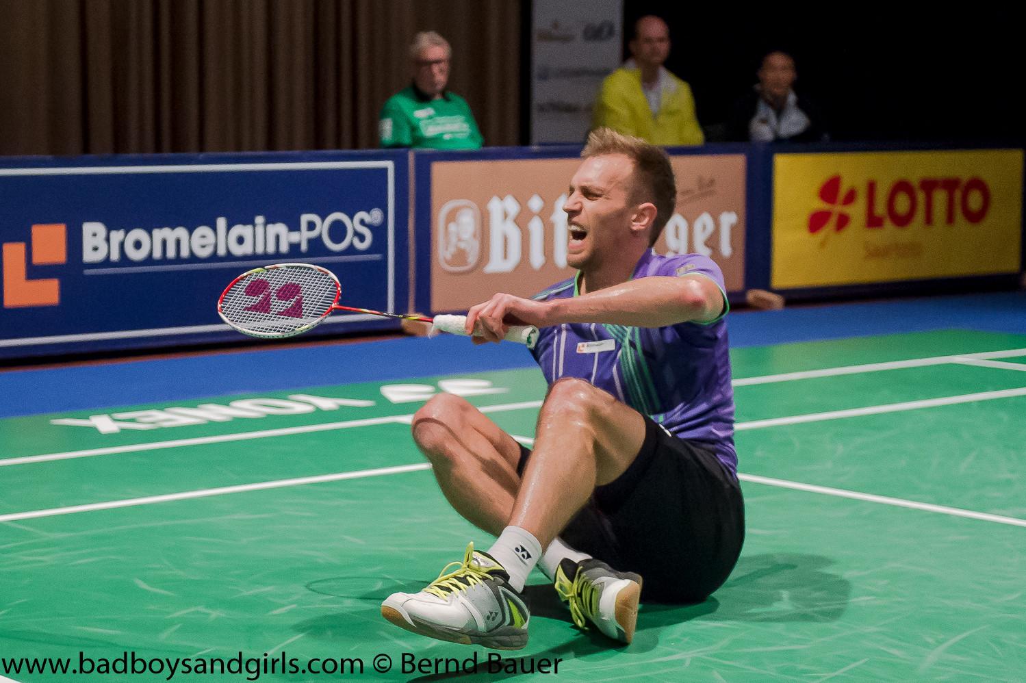 Marc Zwieblers Start war mehr als fraglich. Wegen Achillessehnenproblemen war bis zum Turnierstart nicht klar, ob der Bischmisheimer starten würde...