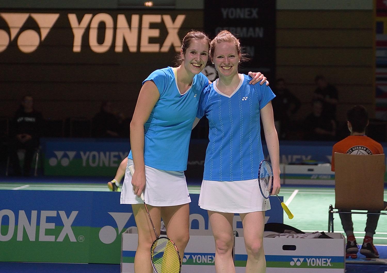 Auch Isabel Herttrich und Carla Nelte schafften den Sprung in die zweite Runde und musste sich dort in einem absoluten Krimi geschlagen geben