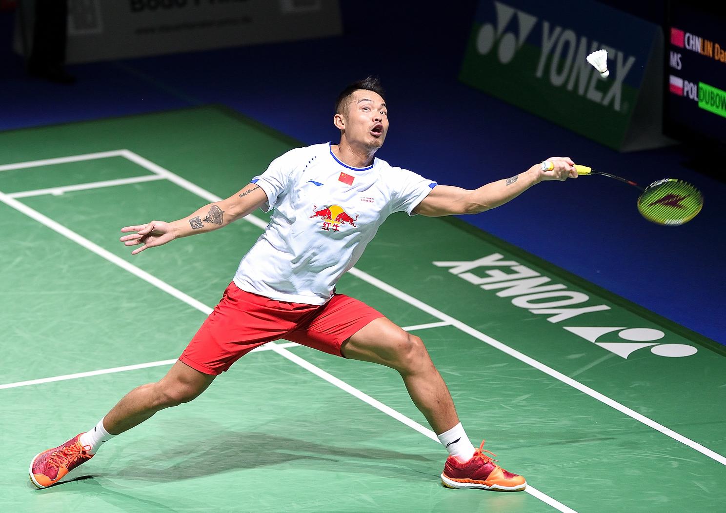 Lin Dan hatte wenig Mühe gegen Polens Mateusz Dubowski...