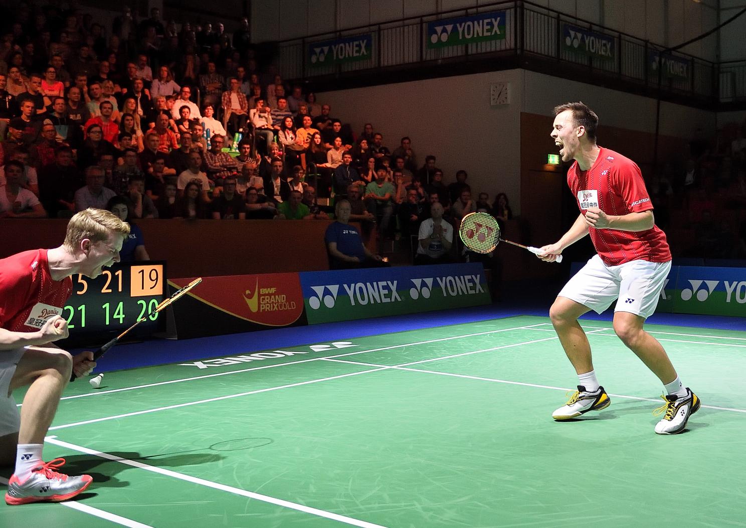 Kurz darauf legten auch ihre Landsmänner Kim Astrup und Anders Skaarup Rasmussen nach und machten das rein dänische Finale perfekt