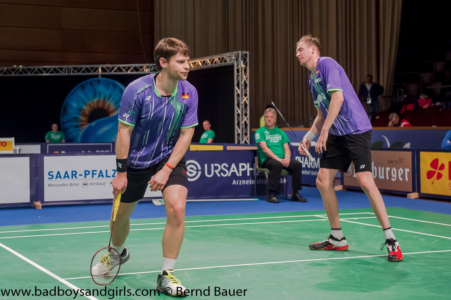 Im Herrendoppel schaffte leider keine deutsche Paarung den Weg ins Viertelfinale, auch nicht die deutsche Toppaarung Fuchs/Schöttler