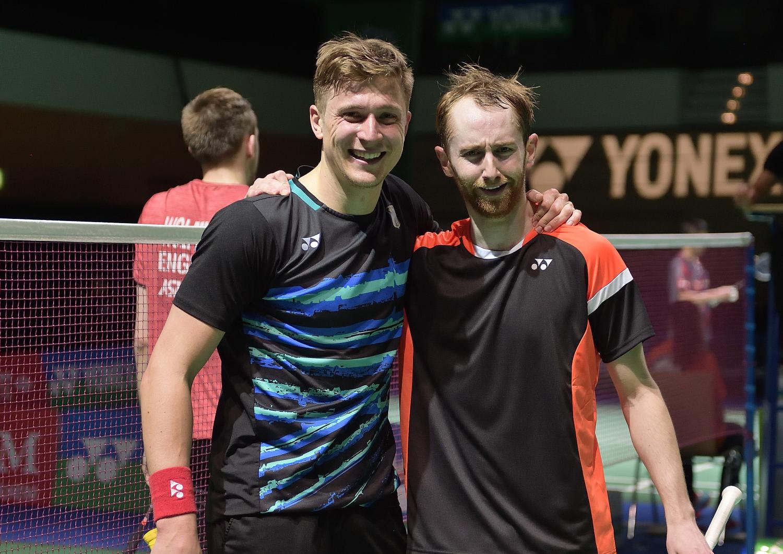 nachdem er auf seinem Abschiedsturnier mit Teamkamerad Sam Maggee aus Irland das Achtelfinale erreichte