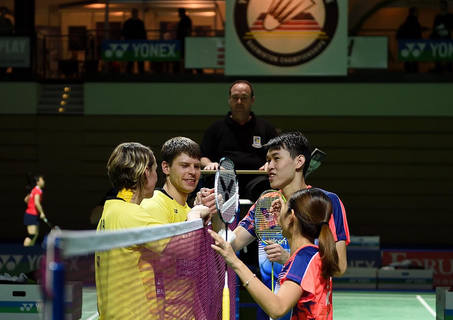 Der letzte Auftritt zweier ganz großer Spieler. Birgit Overzier und Michael Fuchs unterlagen bei ihrem letzten gemeinsamen Auftritt knapp gegen die an Position vier Gesetzten Malaysier