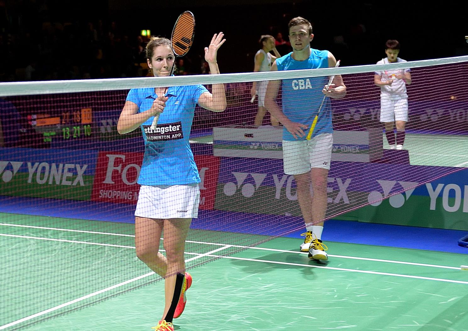 Carla Nelte und Raphael Beck mussten sich im Viertelfinale den Engländern Chris und Gabrielle Adcock geschlagen geben