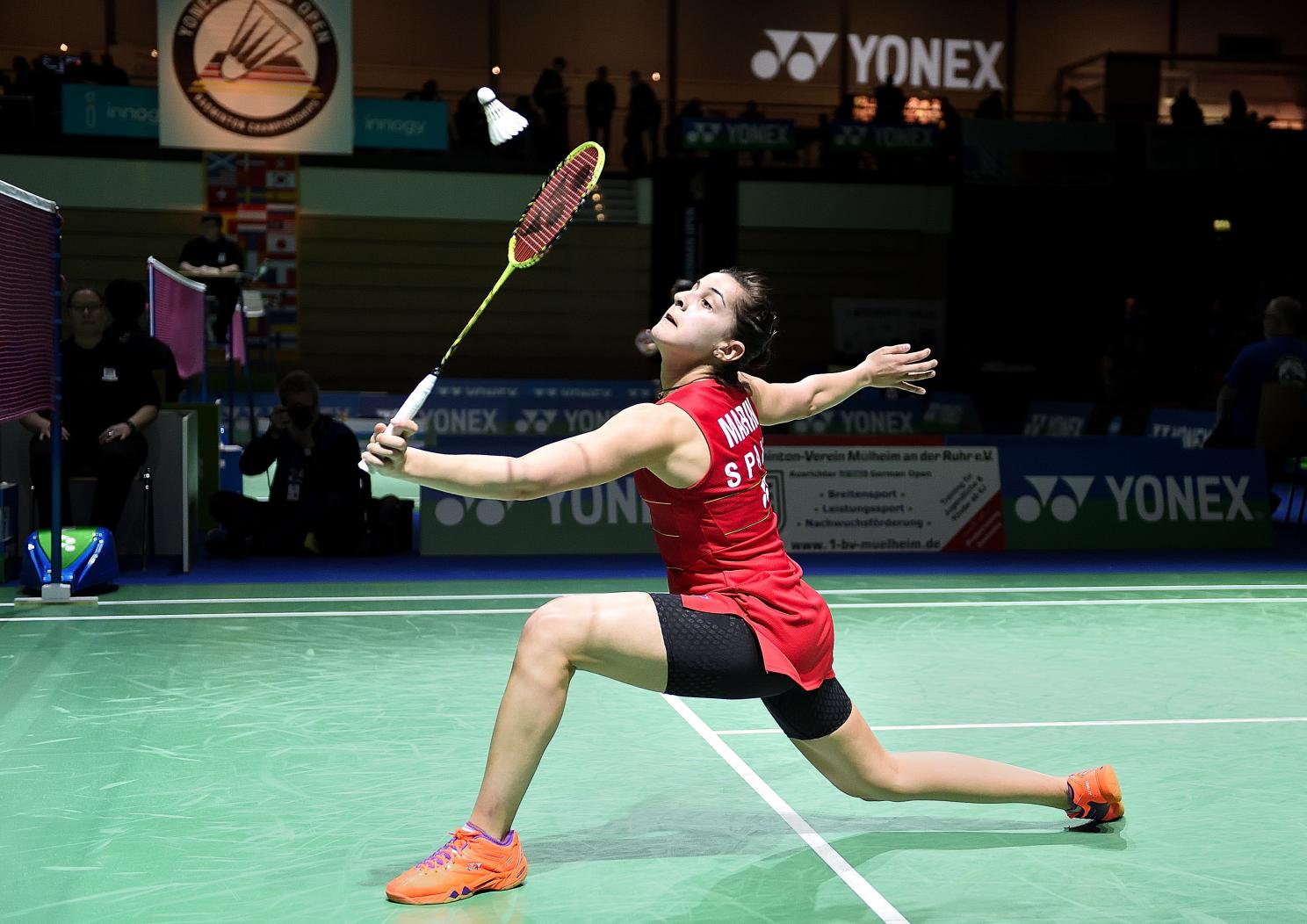 Carolina Marin setzte sich zwar in ihrem Halbfinale durch...