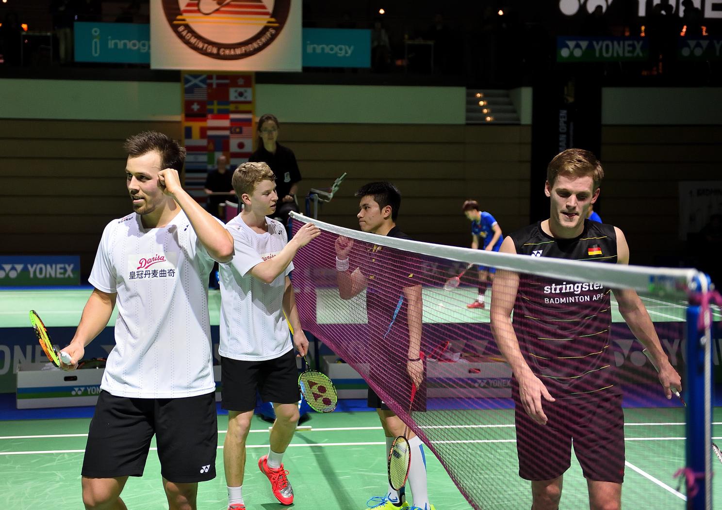 Auch Josche Zurwonne und Jones Ralfy Jansen mussten sich gegen Dänemarks Astrup und Rasmussen geschlagen geben.
