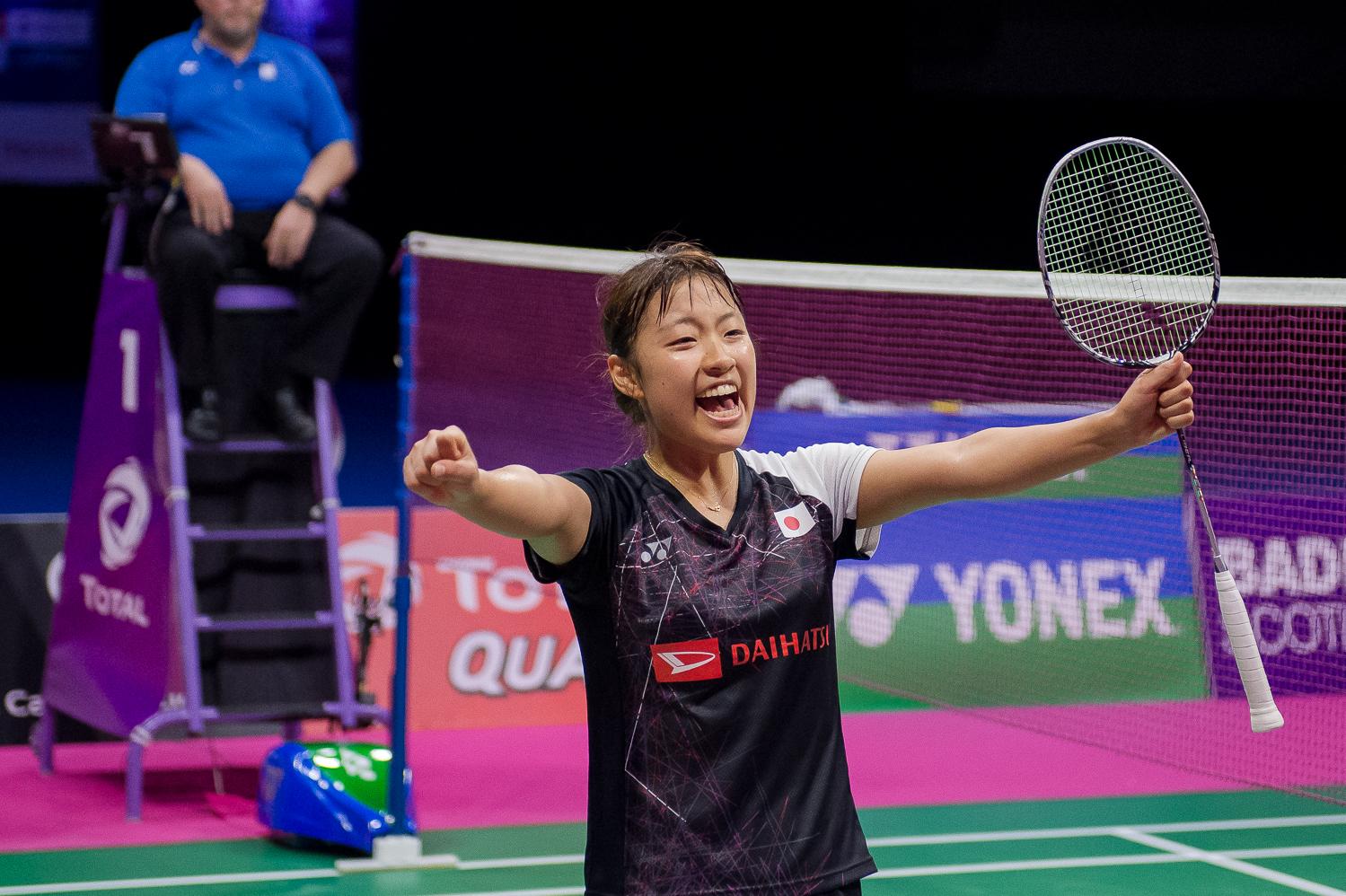 Bei den Damen geht der Traum von Marin-Bezwingerin Nozomi Okuhara weiter. Die flinke Japanerin stoppte den Lauf von Indiens Sania Nehwal im Halbfinale