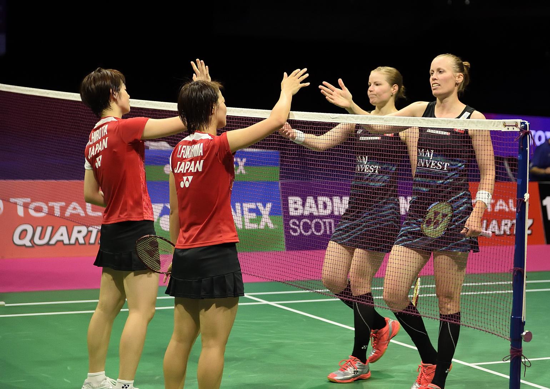 Auch im Damendoppel wird es nichts mit einer europäischen Finalteillnahme. Kamilla Rytter Juhl und Christinna Pedersen musste im Halbfinale die  Segel streichen