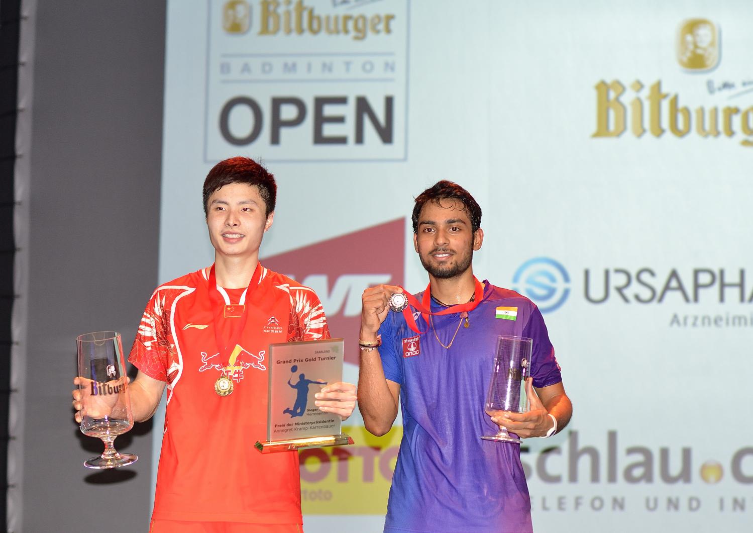 Konnte auch den zweiten Turniersieg in zwei Wochen holen: Shi Yuqi schlug Überraschungsfinalist Sourabh Varma in zwei spannenden Sätzen