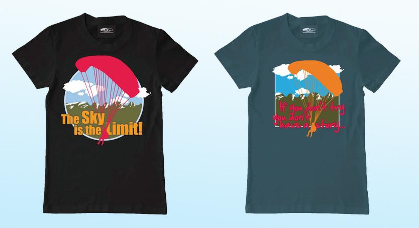 Illustration von Anja Piffaretti, creative-island.ch: T-Shirt-Design, Gleitschirmclub, T-Shirt-Gestaltung