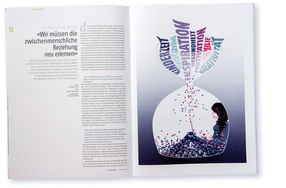 Illustration von Anja Piffaretti, creative-island.ch: Beziehungen, Familie, Inspiration, Timemanagement