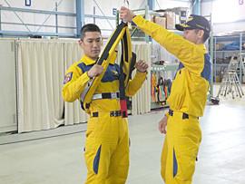 救助訓練の様子