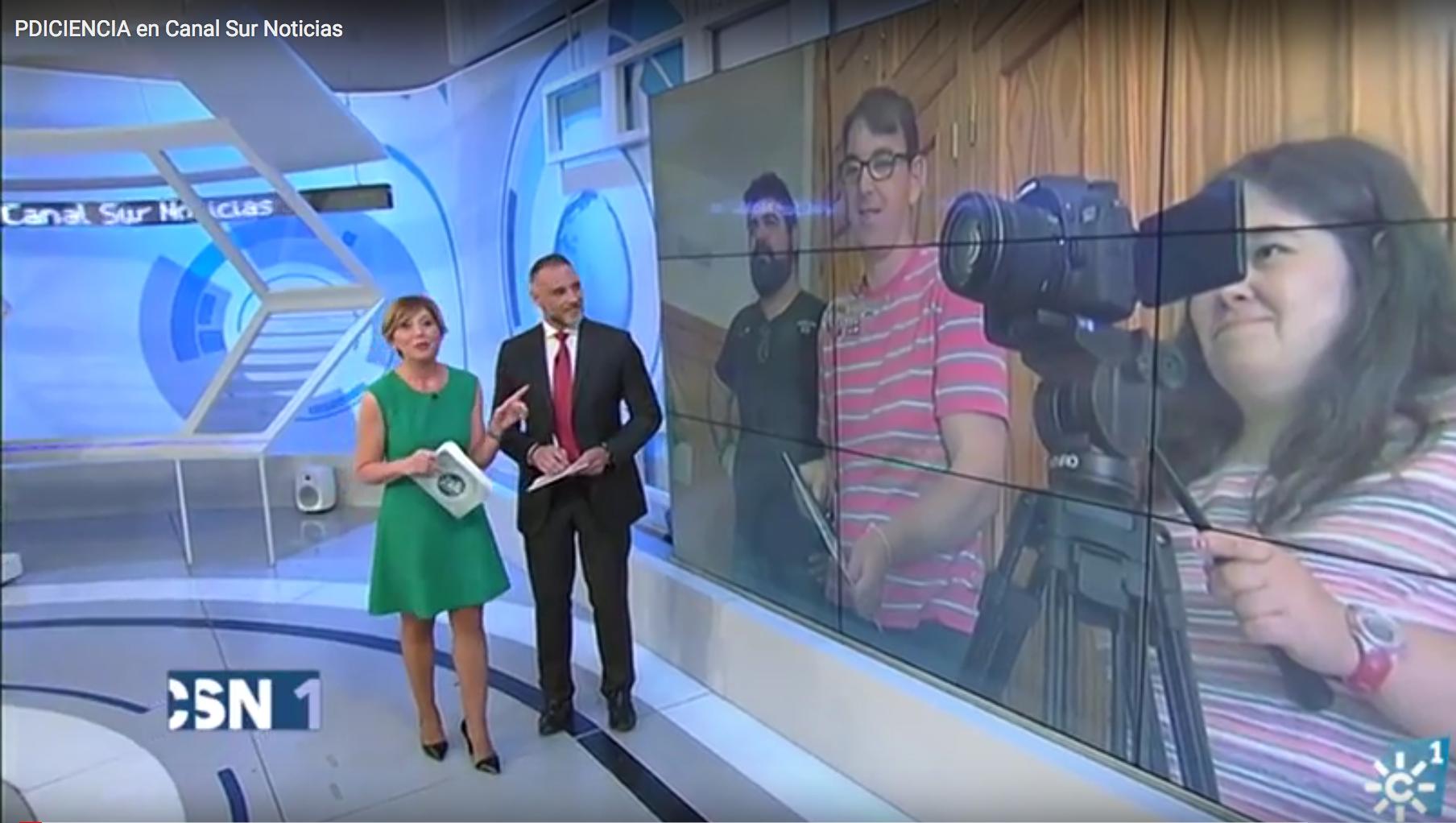 Noticia en Canal Sur Noticias Andalucía. Canal Sur Televisión