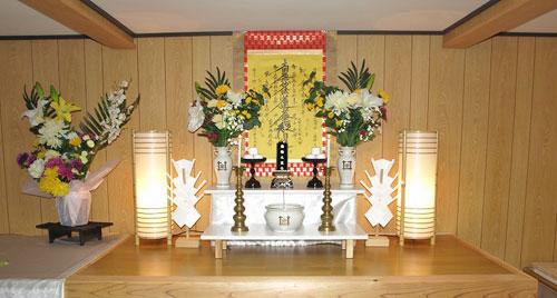 お火葬室祭壇