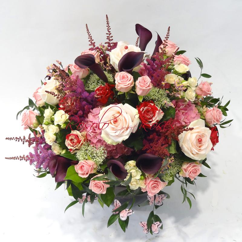 Roses & Hortensia en rose