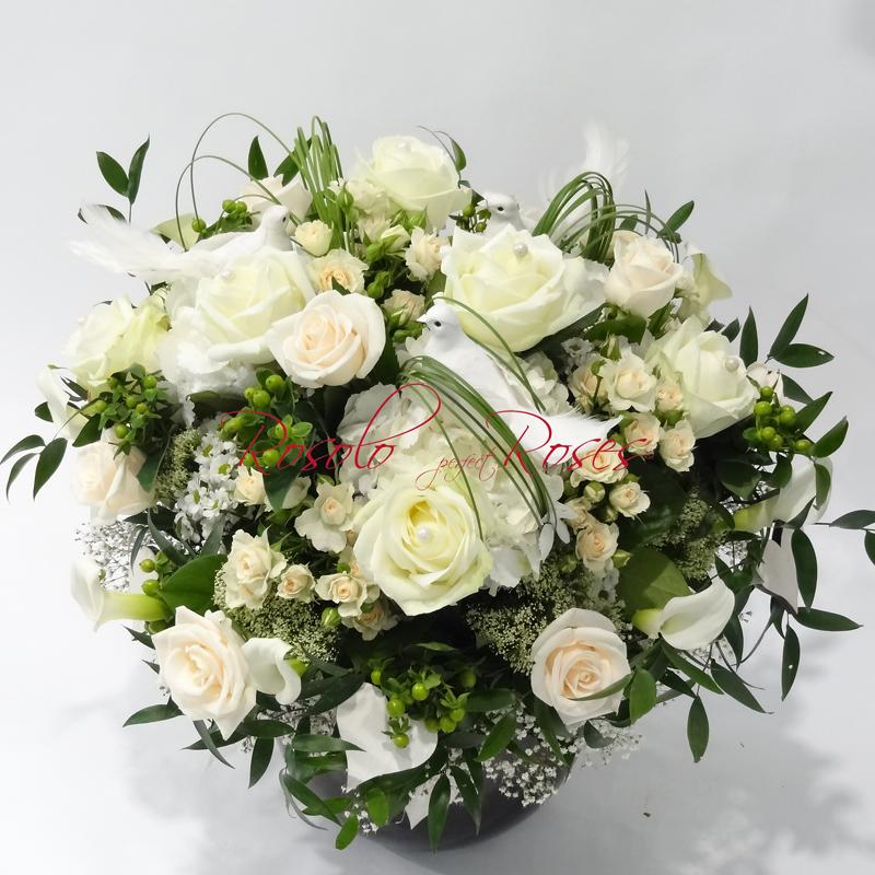 Roses & Hortensia en blanc
