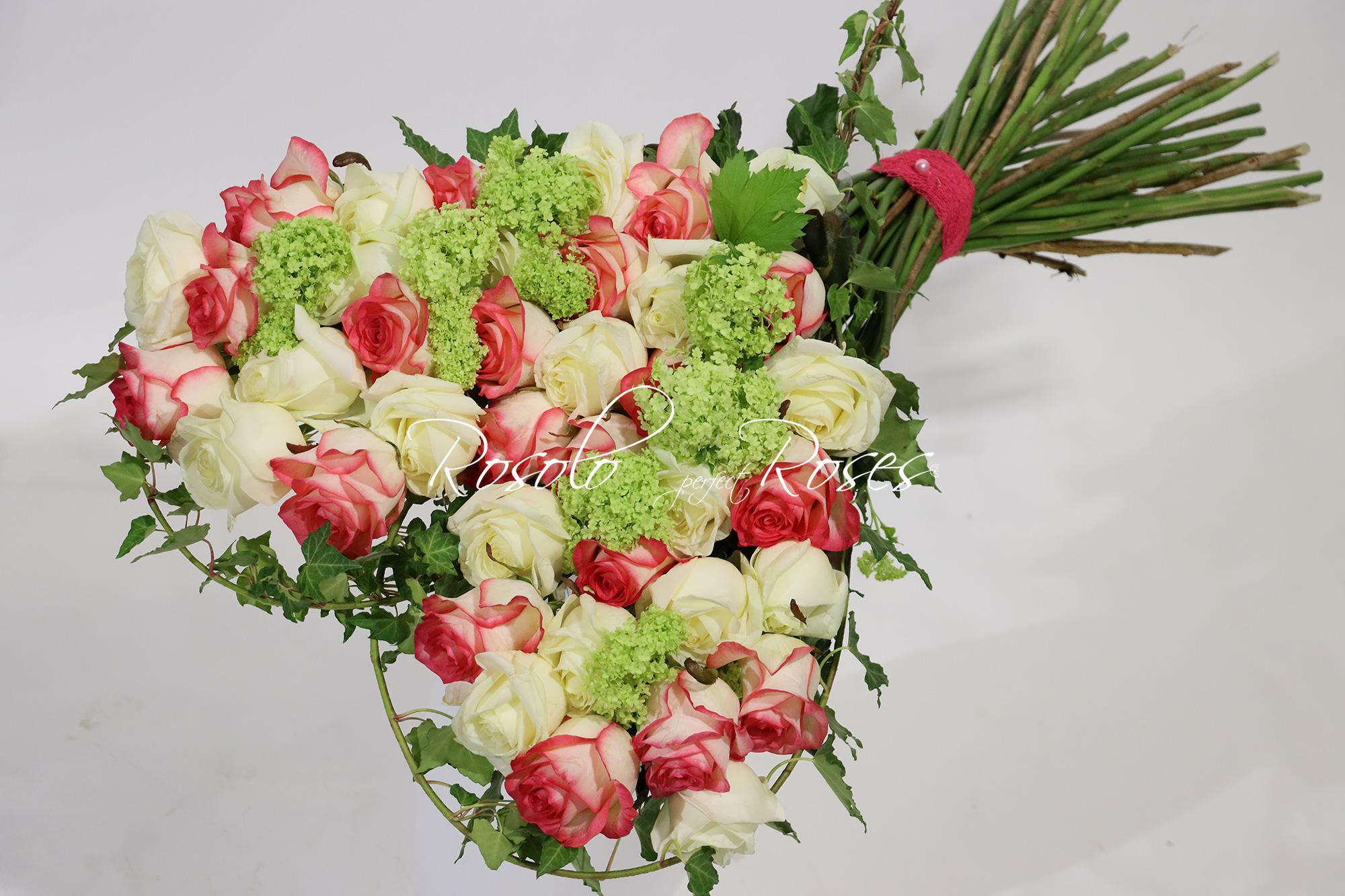 Bouquet cœur CHF 440.00 - livraison rapide