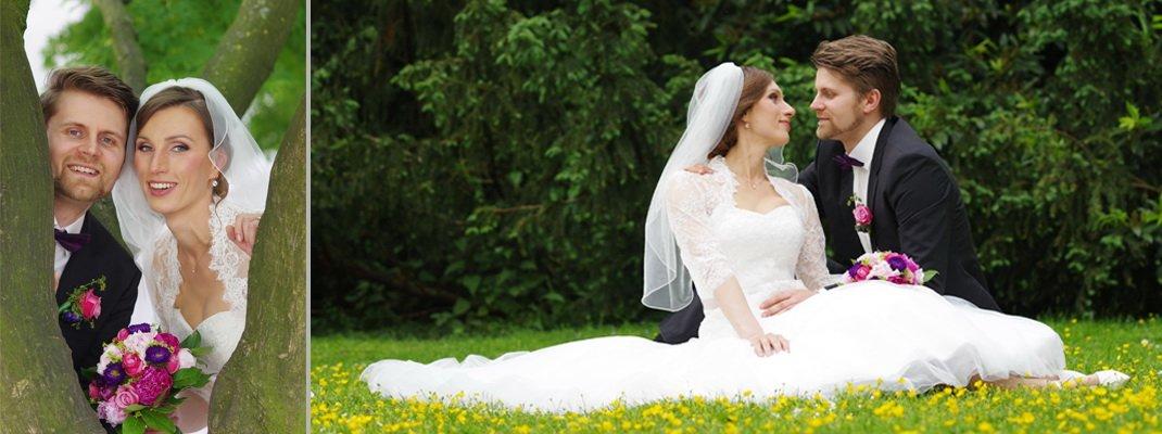 Fotografie Brautpaar Hochzeit im Park
