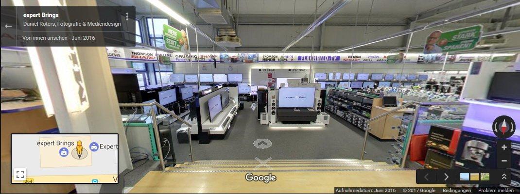 Virtueller Unternehmensrundgang Expert Elektronikmarkt Düren