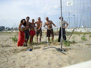 Carla, Vicenç, Piluca, Curro, Gerard, Miquel satisfets de la feina ben feta.