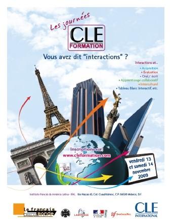 Affiche des Journées CLE Formation à Mexico - 2009
