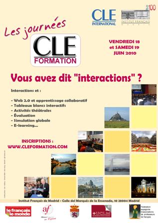 Affiche des Journées CLE Formation à Madrid - 2010