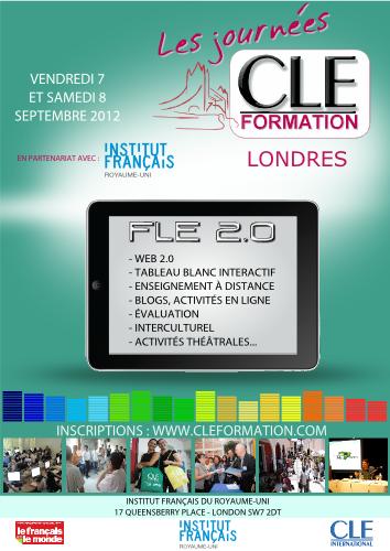 Affiche des Journées CLE Formation à Londres - 2012