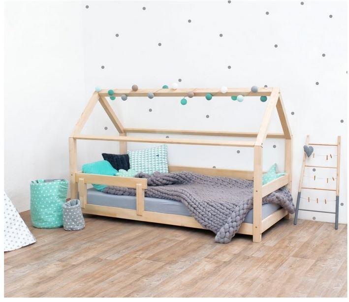 Hauschen Kinderbett Tery Mit Rausfallschutz Natur Eged Living Style