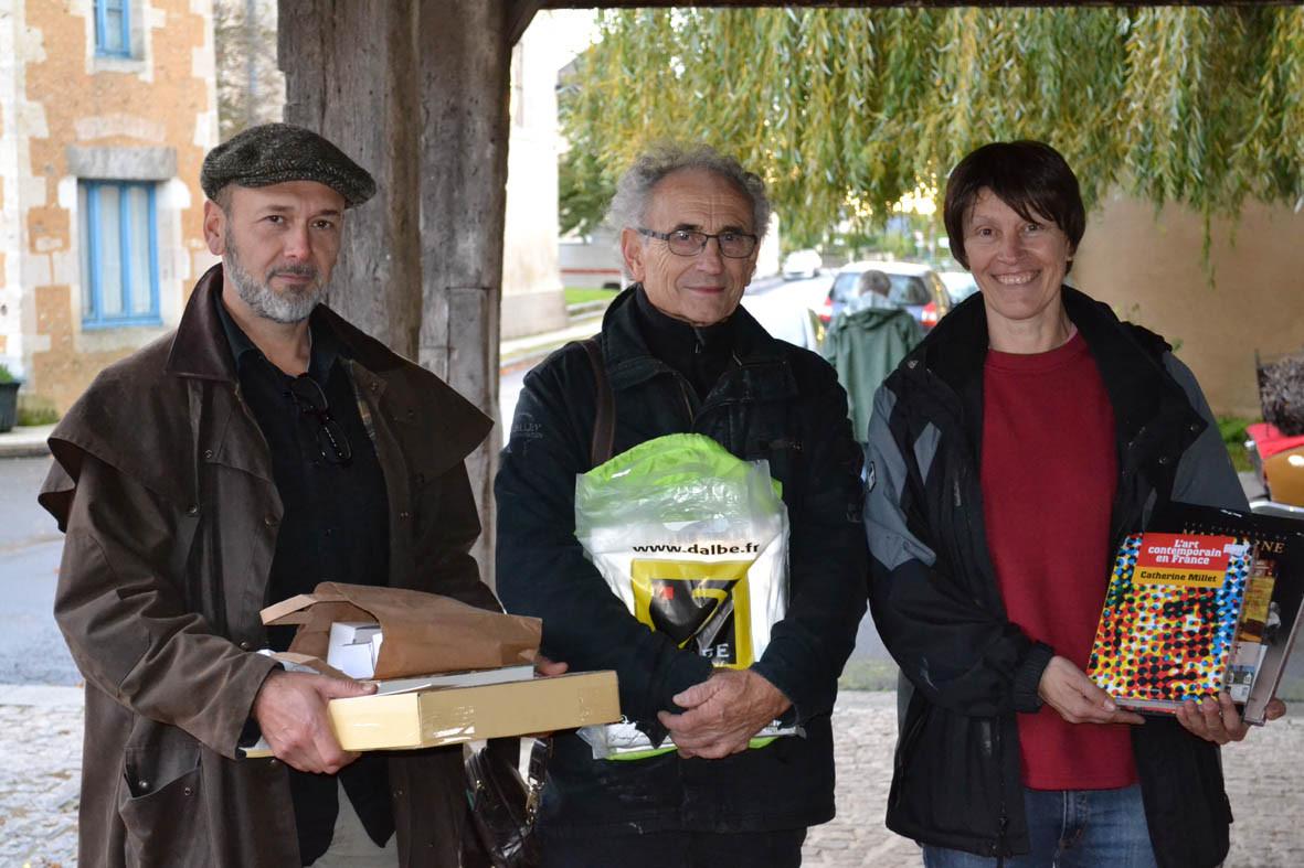 remise des prix : Franck Leagal, Christian Valette et Véronique Lesage
