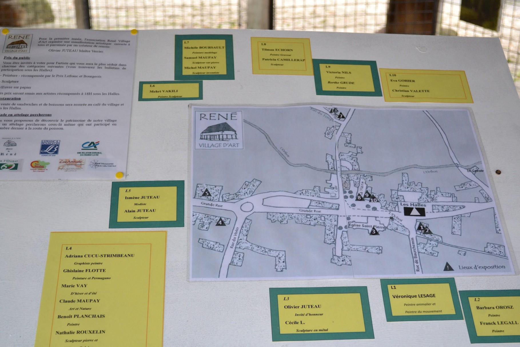 parcours des lieux d'exposition