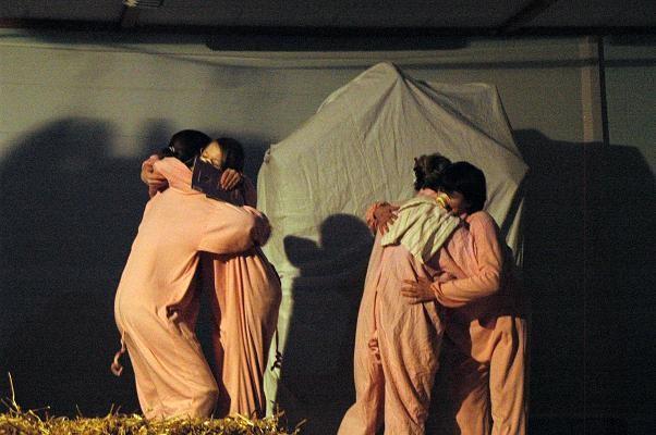 Les 3 petits cochons en pièce de théatre - Noël 2009