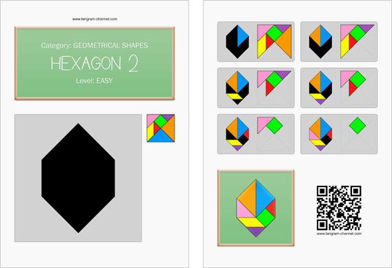 Tangram Hexagon 2 Printable tangram worksheet 156 Providing – Hexagon Worksheet