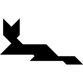 Tangram puzzle 9 : Cat lying - Visit http://www.tangram-channel.com/ to see the solution to this Tangram