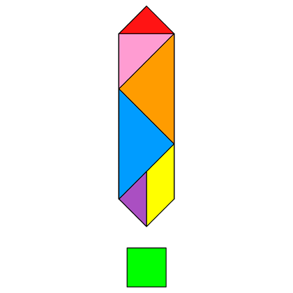 Tangram Exclamation mark