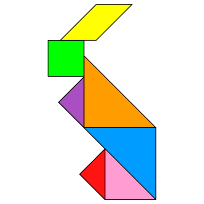 Tangram Rabbit Tangram Solution 2 Providing Teachers