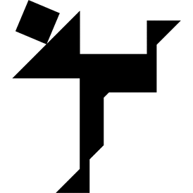 Tangram puzzle 8 : Skater - Visit http://www.tangram-channel.com/ to see the solution to this Tangram
