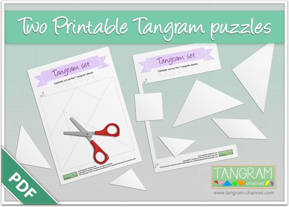 Two Printable Tangram Puzzles - Free Download - www.tangram-channel.com