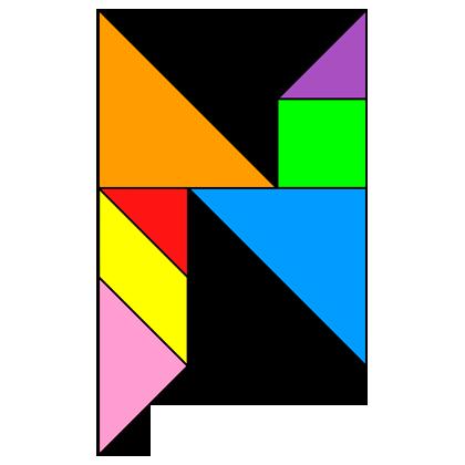 Tangram Letter N