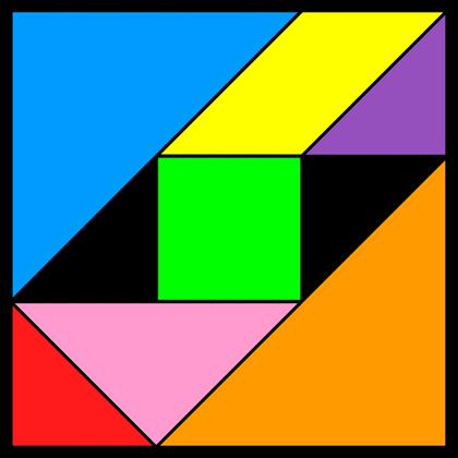 Tangram Incomplete square 2
